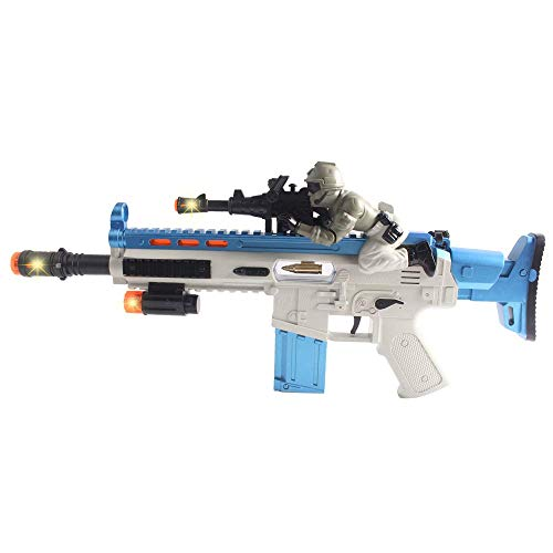 Anstoy Kids Toy Gun with Colorful Flashing LED Lights & Sounds & Vibration Effects,Imaginative Pretend Play for Girls &Boys as Birthday (Soldiers Model)