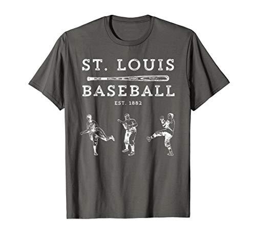 Classic St. Louis Missouri Baseball Fan Retro T-Shirt ()