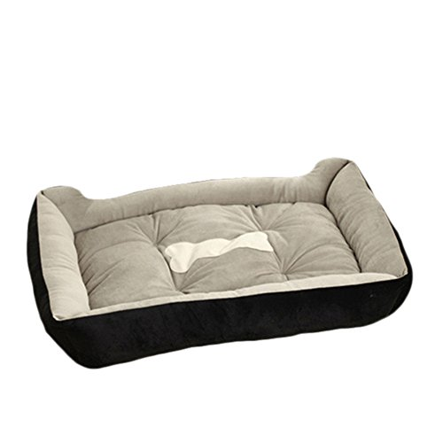 Topbeu Rectangle Warm Pet Bed Dog Bed Dog Cushion Cat Bed for Dogs & Cats Pet Supplies (XXS--17.7