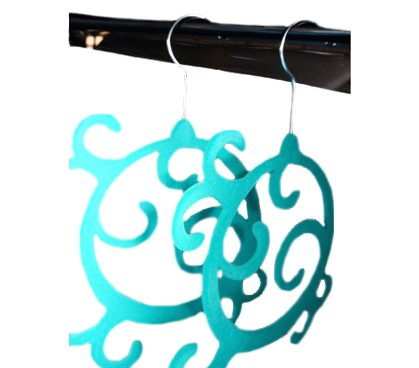 Enchanted Design Hangers - Scarf/Belt/Accessory Hangers - Turquoise (2 (Enchanted Scarf)