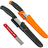 Morakniv Outdoor Knife and Sharpener Set, Includes Two Companion Knives and Fine Diamond 600-Grit Sharpener