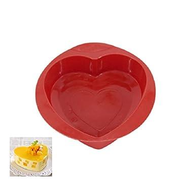 Molde de silicona para tartas, forma de corazón, para repostería, chocolate, pan de cocina, bricolaje, herramienta de horneado: Amazon.es: Hogar