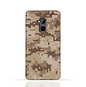 HTC One Max TPU Silicone Case with Desert Military Camouflage Design