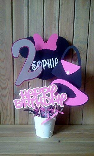 Amazon Com Minnie Mouse Birthday Centerpiece Minnie Mouse Party