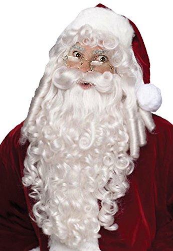 Santa Claus Wig & Beard (Santa Wig And Beard Super DLX)