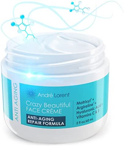 Best Face Cream for Wrinkles and Anti Aging - Daily Moisturizer with Matrixyl + Argireline + Hyaluronic Acid + Vitamin C + Vitamin E for Wrinkle Repair - Must Have Day Cream for Fine Lines
