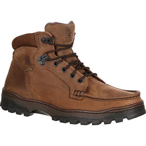 (Rocky Men's Outback Gore-Tex Waterproof Field Boot Dark Brown 13 M)