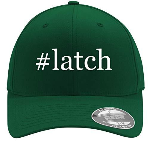 #Latch - Adult Men's Hashtag Flexfit Baseball Hat Cap, Forest, Large/X-Large ()