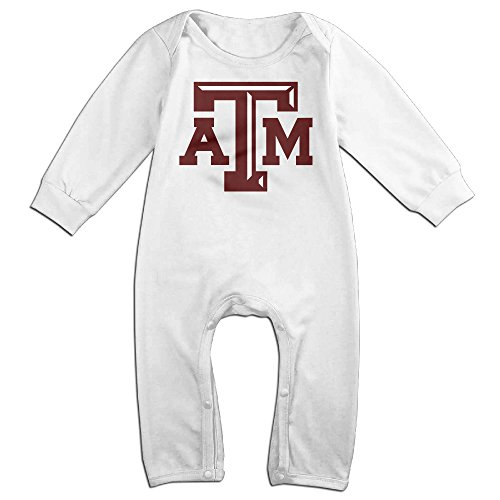 Price comparison product image OOKOO Baby's Texas A&M University ATm Logo Bodysuits Outfits White 6 M