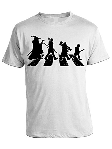 Humor Walking Of Bianco Degli In Il Lord Cotone Rings Anelli Signore Tshirt 8w6UAA