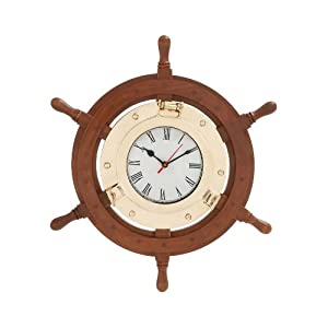 41dLOWipC9L._SS300_ Best Ship Wheel Clocks