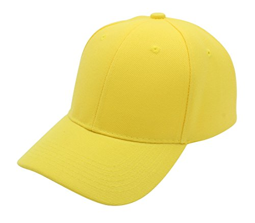 Baseball Cap Hat Men Women - Classic Adjustable Plain Blank, YEL Yellow]()
