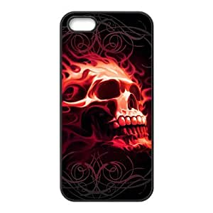 Brown skull auspicious pattern Phone Case for iPhone 5S(TPU)