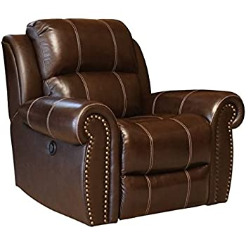 Amazon Com Abbyson Living Kingston Leather Power Recliner