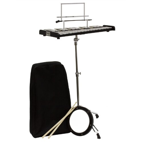 Mendini MGS-30 Educational Glockenspiel Bell Kit with Practice Pad, Mallets, Sticks and Bag by Mendini