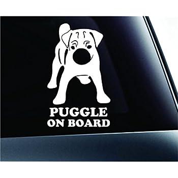 Amazon Com Puggle On Board Dog Symbol Decal Paw Print Dog