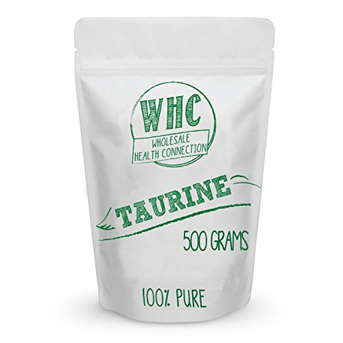 Taurine Powder 500g (1000 Servings) | Enhanced Workout Capacity | Mood Support | Heart and Eye Health | Cardiovascular Health | Macular Degeneration | Fat Loss