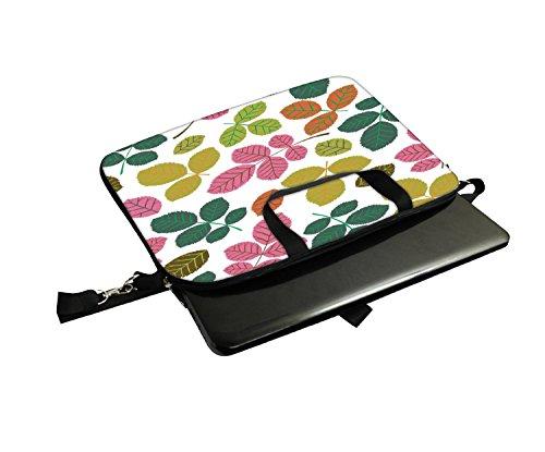 Snoogg Colorful Zweige Laptop Netbook Computer Tablet PC Schulter Case mit Sleeve Tasche Halter für Apple iPad/HP TouchPad Mini 210/Acer Aspire One und die meisten 24,6cm 25,4cm 25,7cm 25,9cm Zoll