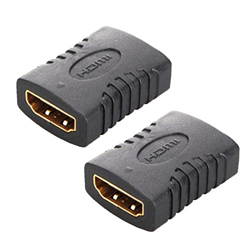 Hdmi Female Adapter Coupler (FolioGadgets HDMI Female to Female Adapter Gold Plated High Speed HDMI Female Coupler 3D&4K Resolution - 2-Pack)