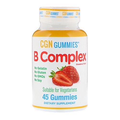 California Gold Nutrition, B Complex Gummies, No Gelatin, No Gluten, Natural Strawberry Flavor, 45 Gummies (B-complex Gummy)