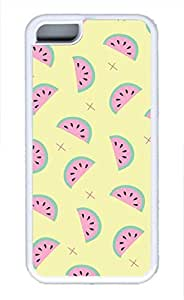 Brian114 iPhone 5C Case - Cute Cartoon Watermelon Soft Rubber White iPhone 5C Cover, iPhone 5C Cases, Cute iPhone 5c Case