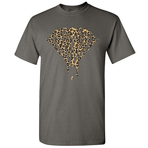 Amazing Items Bleeding Diamond Cheetah Theme Men's T-Shirt, X-Large, Charcoal
