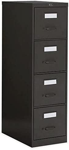 Global Office 25 4 Drawer Vertical Metal File Storage Cabinet-Light Grey – Light Grey