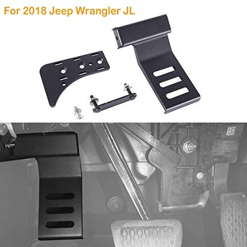 - ALAVENTE Driver Side Pedal Left Side Foot Pegs Kick Dead Pedal Panel Steel Foot Rest for 2018 Jeep Wrangler JL (Black)