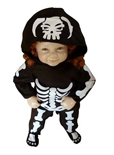 Skeleton children-s halloween costume-s, girl-s boy-s kid-s, F70 Size: 5 -
