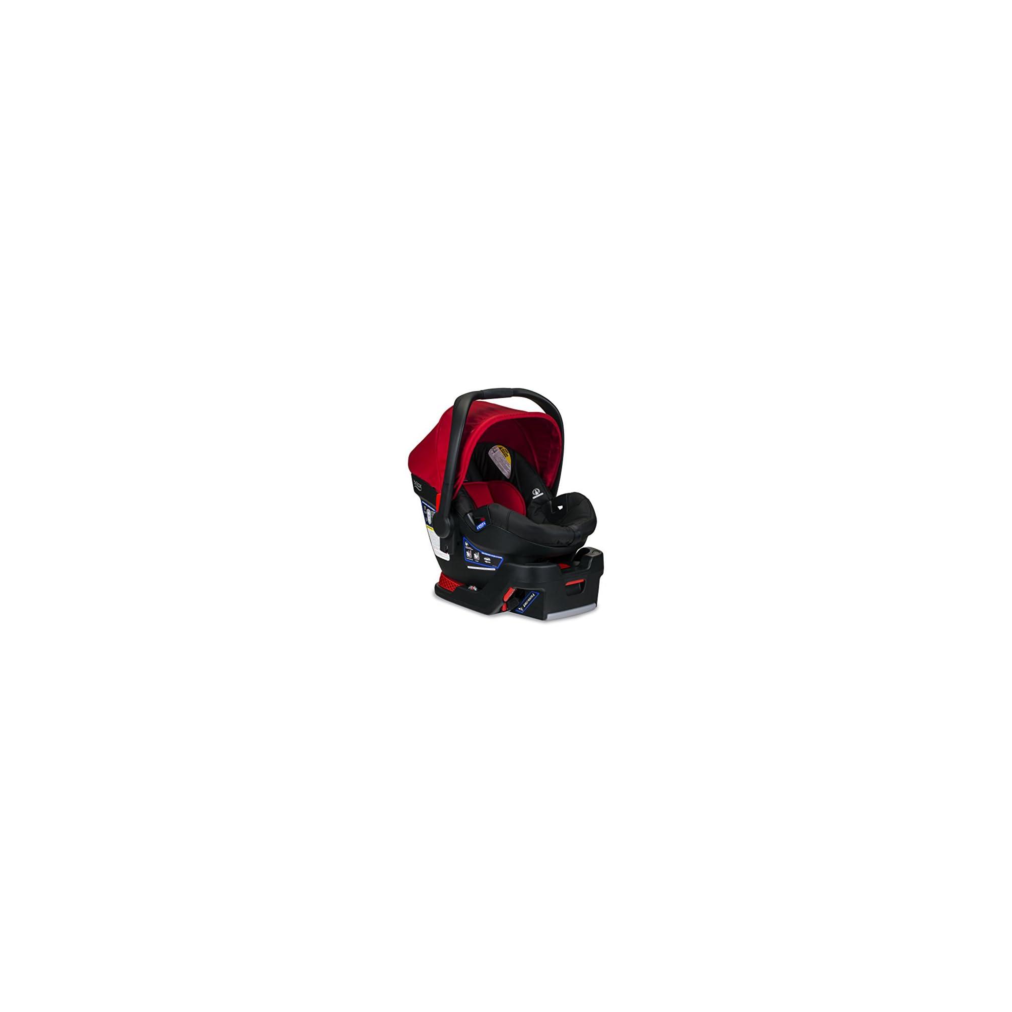 Britax B-Safe 35 Infant Car Seat – Rear Facing | 4 to 35 Pounds – Reclinable Base, 1 Layer Impact Protection, Cardinal