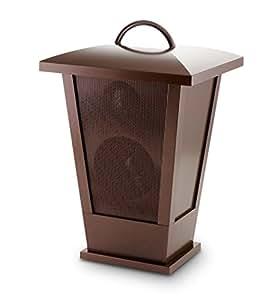 "Bluetooth Speaker Lantern with LED Lights, 7.75"" x 7"" x 11.75"", Copper"