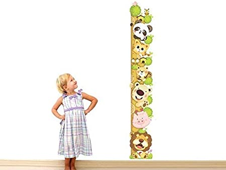 ufengke/® Cute Cartoon-Katze L/öwe Panda Messlatten Wandsticker 0Cm-180Cm Kinderzimmer Babyzimmer Entfernbare Wandtattoos Wandbilder