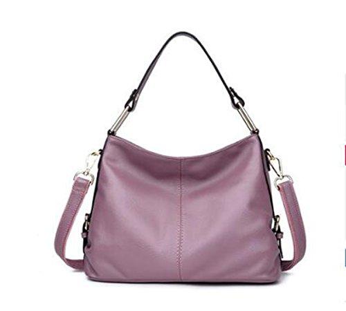 VTootkl LXopr@,Cuero,Bolso de hombro,Bolso de Crossbody,Mochila,Señora,12.9 * 4.7 * 9.4(inch) Pink