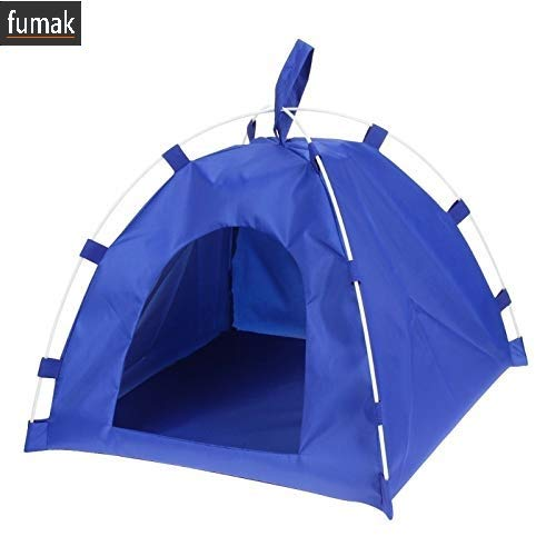 (fumak Portable Pet Tent Sleeping Bed House Dog Cat Playing Mat Folding Kennel Bed Universal Dogs Waterproof Oxford Bed Pet Supplies)