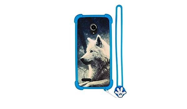 Funda para Selecline Smartphone 865064 Ecran 4 Pouces Funda Silicone Border + Placa Dura de la PC Stand Carcasa Case Cover Lang: Amazon.es: Electrónica