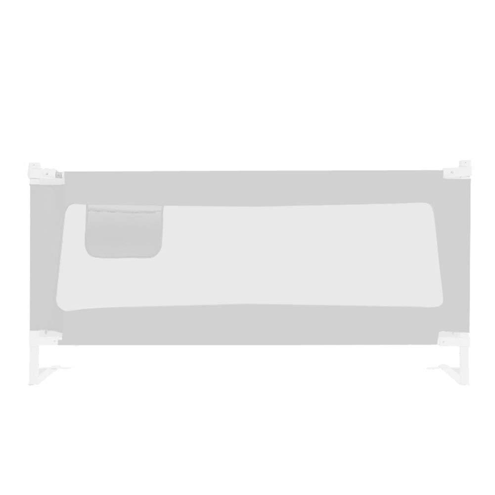 CQILONG ベッドレール 子供用ベッドレール ベビーガードレール 保護シールドを高くする ロータリーリフティング 安全柵 、3色 4サイズ (Color : Gray, Size : 200x71-90cm) 200x71-90cm Gray B07SS1X327