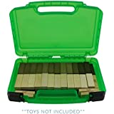 Life Made Better Toy Storage Carrying Case, Compatible with Jenga. Figures Playset Organizer. Accessories for Kids by LMB
