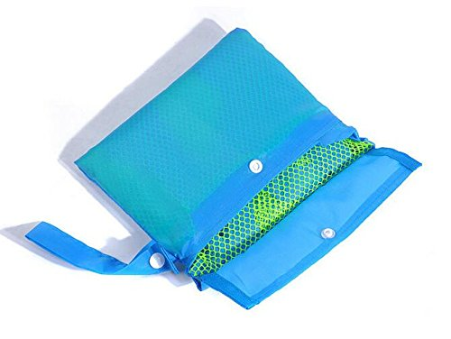 Beach Mesh Tote Bag - Beach Toys/Shell Bag Stay Away from Sand for the Beach, Pool, Boat - Perfect for Holding Childrens' Toys(Blue) by ISADENSER (Image #3)