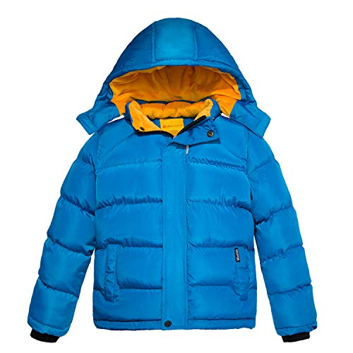 - Wantdo Boy's Quilted Winter Coat Thicken Warm Down Puffer Jacket Blue 14/16