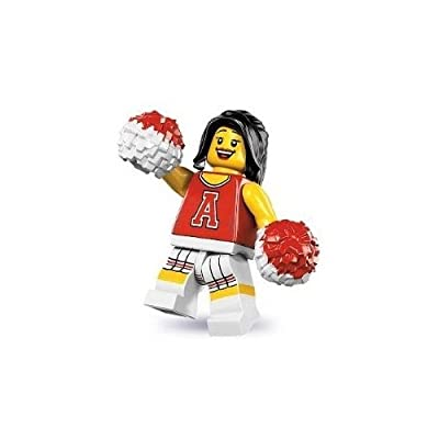 Lego Series 8 Red Cheerleader Mini Figure: Toys & Games