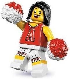 Lego Series 8 Red Cheerleader Mini Figure
