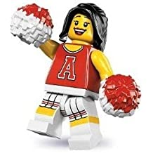 Lego Series 8 Red Cheerleader Mini Figure