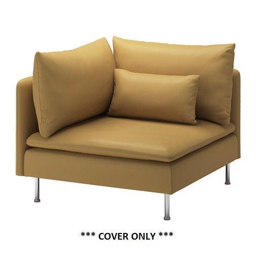 スーパーセール IKEA SODERHAMN ndash; 内祝い Slipcover カバーのみ forコーナーセクションSamstaダークイエロー B01G4H3WC0
