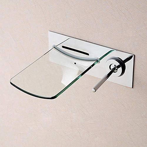 ZT-TTHG 現代インストールガラスの滝の蛇口の浴室の洗面台壁掛けホットとコールドクローム蛇口セット実用的な美しいです
