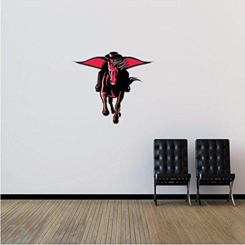 Texas Tech Red Raiders NCAA USA Logo College Sport Art Wall Decor Sticker Rider 23'' x 21''