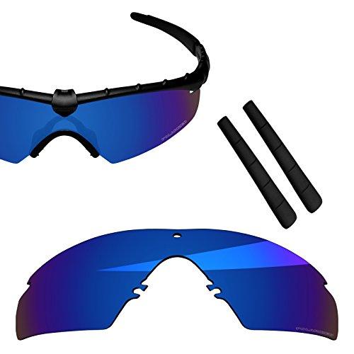 BlazerBuck Anti-salt Polarized Replacement Lenses & Ear Socks for Oakley M Frame 2.0 Strike - Midnight - Lens Ballistic