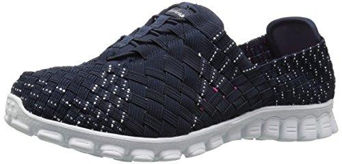 888222896898 - Skechers Sport Women's EZ Flex 2 Tada Fashion Sneaker, Navy/Silver, 10 M US carousel main 0