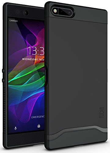 (Razer Phone Case, TUDIA Slim-Fit Heavy Duty [Merge] Extreme Protection/Rugged but Slim Dual Layer Case for Razer Phone (2017 Version) (Matte Black))
