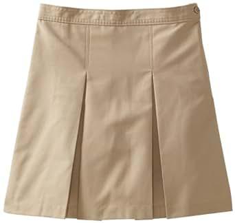 CLASSROOM Big Girls'  Plus-Size Plus Kick Pleat Skirt, Khaki, 10 1/2