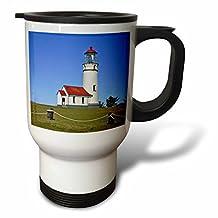 tm_93903_1 Danita Delimont - Lighthouses - Lighthouse, Cape Blanco SP, Port Orford Oregon - US38 MGI0165 - Mark Gibson - Travel Mug - 14oz Stainless Steel Travel Mug